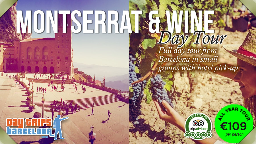 Day Tour from Barcelona to Montserrat Mountain and Torres Winery