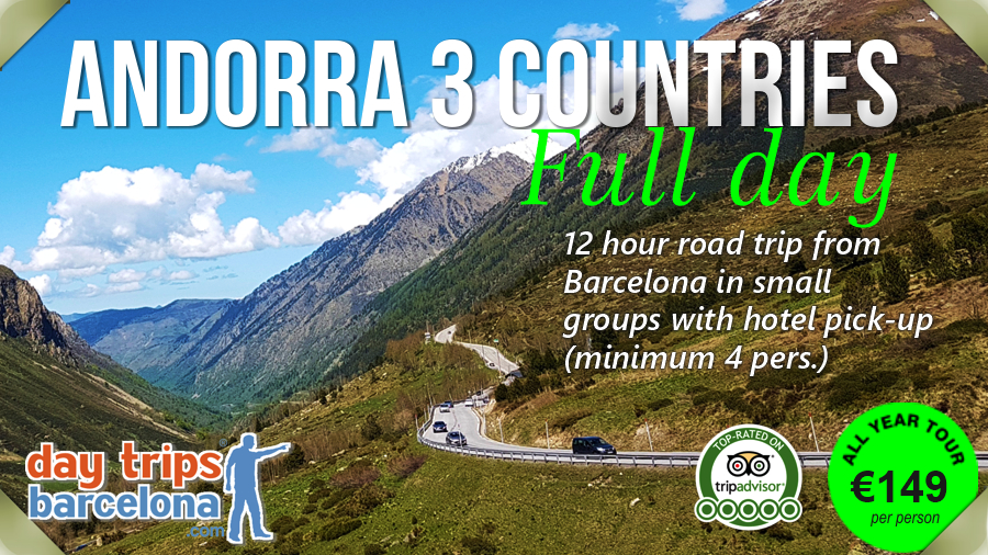 Day tour to Andorra, France and Pyrenees mountains from Barcelona