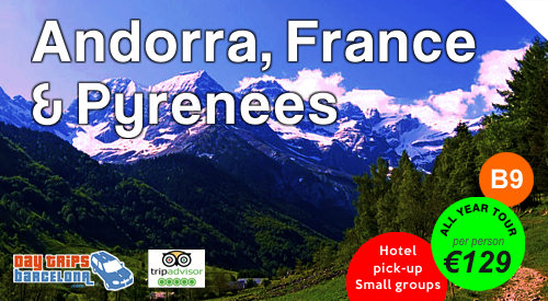 Day Tour Andorra, France and Pyrenees Mountains from Barcelona