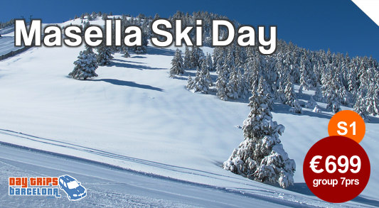 Day Ski Tour to Masella near Barcelona